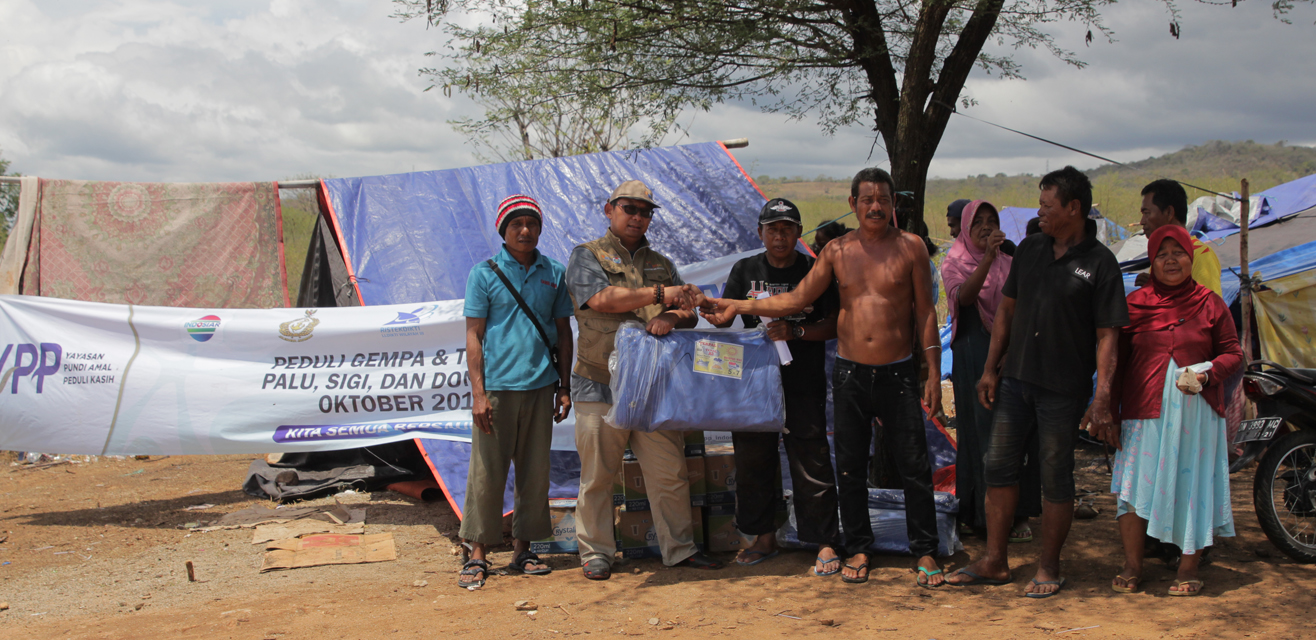 Alpha Omega bersama YPP SCTV INDOSIAR di desa Mamboro Bakuganda , kec. Palu utara